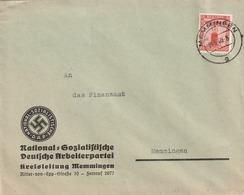 Deutsches Reich / 1938 / Dienstmarke Mi. 149 EF Auf Brief, Abs. NSDAP-Kreisleitung Memmingen (5153) - Officials