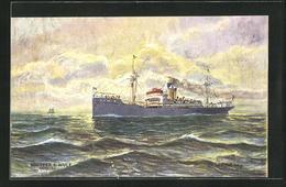 AK Postdampfer Nord-Friesland In Der Biscaya - Post & Briefboten