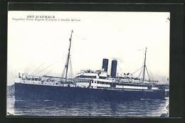 AK Duc D`Aumal, Paquebot Poste Rapide Francais, Passagierschiff - Post & Briefboten