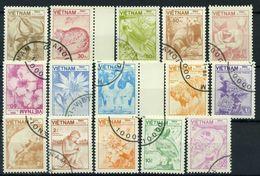 Vietnam 1984 Mi. 1529-1543 Used 100% Wildlife Animals Fauna And Flora 15 STAMPS - Vietnam
