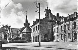 35 Saint Germain-sur-Ille - Place De La Mairie - Église - Commerces - Cpa - écrite - - Saint-Germain-sur-Ille