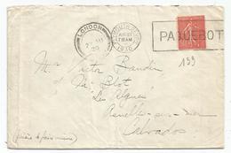 N° 199 LETTRE FRENCH LINE MECANIQUE PLYMOUTH DEVON 1930 PAQUEBOT + LONDON POUR CALVADOS - Storia Postale