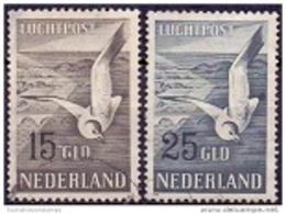 Nederland 1951 Zeemeeuw Serie GB-USED - Airmail