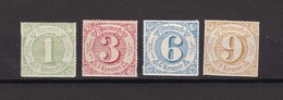 Thurn Und Taxis - 1866 - Michel Nr. 51/54 - Ungebr. - Thurn And Taxis