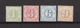 Thurn Und Taxis - 1866 - Michel Nr. 51/54 - Ungebr. - Thurn Und Taxis