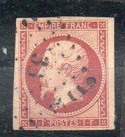 N°18 OBLITERE 4 MARCHES SUPERBES MAIS UN PETIT TROU  PRIX DEPART 15 EUROS - 1853-1860 Napoléon III
