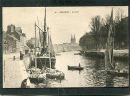 CPA - QUIMPER - Le Port, Animé - Bateaux De Pêche - Quimper