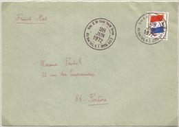 FM DRAPEAU LETTRE CAHET AMERICAIN ARMY AIR FORCE 28 JUIN 1972 FRENCH MAIL - Franchise Stamps