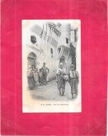 ALGER - ALGERIE - CPA DOS SIMPLE - Rue De La Mer Rouge -  CAT - - Alger