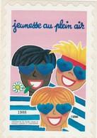 VIGNETTE  JEUNESSE AU PLEIN AIR  1988   AUTO ADHESIF - Sports