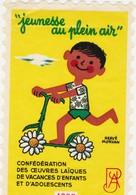 VIGNETTE  JEUNESSE AU PLEIN AIR  1968 - Sports