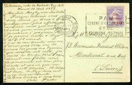 """N° 249, 2ème Série """"Caisse D'amortissement"""" Sur CP De Pau Datée Du Hameau, Le 10 Avril 1929 - Cassa Di Ammortamento"""
