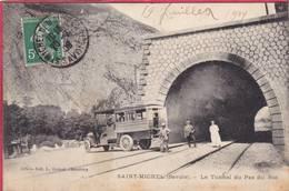 CPA 73  SAINT MICHEL De Maurienne Le Tunnel Du Pas Du ROC ( Beau Plan Voiture Autobus - Saint Michel De Maurienne