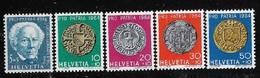 SVIZZERA - 1964 - PRO PATRIA - 5 VALORI NUOVI STL - J.G. BODMER E ANTICHE MONETE- IN OTTIME CONDIZIONI. - Nuovi