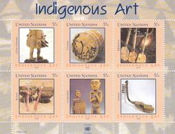 UNO-New York, 2006, 998/03 Block 26,  MNH **, Eingeborenenkunst (III) - Afrikanische Musikinstrumente. - New York -  VN Hauptquartier