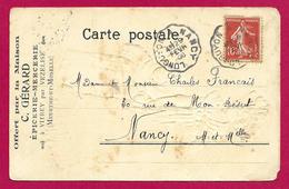 Carte Postale Publicitaire Daté De 1908 - Épicerie Mercerie C. Gérard à Vitrey Par Vézelise - Vezelise