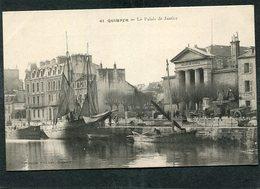 CPA - QUIMPER - Le Palais De Justice, Animé - Bateaux De Pêche - Quimper