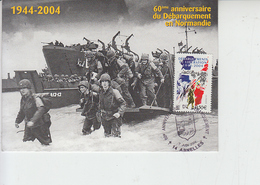 FRANCIA  2004  - Yvert 3675 - Storia - Sbarco In Normandia - Cartoline Maximum