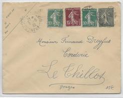 1932 - BEL AFFR. SEMEUSE Sur ENVELOPPE ENTIER POSTAL De GARE De NANCY => VOSGES - Postal Stamped Stationery