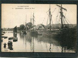CPA - QUIMPER - L'Entrée Du Port, Animé - Bateaux De Pêche - Quimper