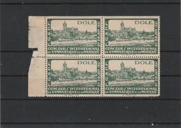 VIGNETTE DOLE 1931 CONCOURS INTERREGIONAL  DE  GYMNASTIQUE  BLOC DE 4 - Sports