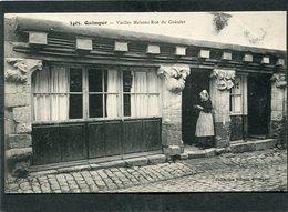CPA - QUIMPER - Vieilles Maisons Rue Du Guéodet, Animé - Quimper