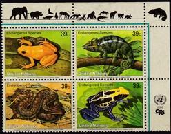 UNO-New York, 2006, 1015/18,  MNH **, Gefährdete Arten (XIV): Amphibien Und Reptilien. - New York -  VN Hauptquartier