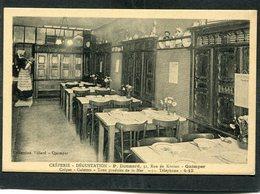 CPA - QUIMPER - Crêperie DONNARD - La Salle De Restaurant - Carte Note - Quimper