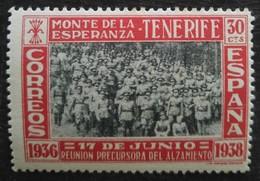 TENERIFE Monte De La Esperanza N° 52 Neuf Avec Trace De Charnière - Vignettes De La Guerre Civile