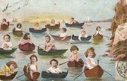 "Mulibabies On Boatsy"" Curious Vintage  Postcard - Escenas & Paisajes"