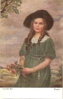 """""Corneille Max. Girl Wiith Roses. Rosen"" Fine Painting, Vintage German Postcard - Otros"