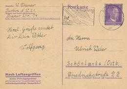 BERLIN  -  1943  ,  Nach Luftangriffen Keine Privatgespräche ...  -  Stempel: Nahrung Ist Eine Waffe - Deutschland
