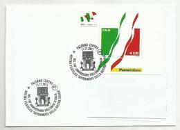 COVER LETTRE LETTER REPUBBLICA ITALIANA UNITA' D'ITALIA 2011  PALERMO 11.11.2011 ANNULLO SPECIALE ( NO FDC) - 6. 1946-.. Repubblica
