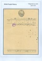PERSIA - IRAN; Old Telegram From The Year 1910 - Iran