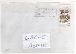 """: Beau Timbre , Stamp  Yvert N° 2866 """" Les Vikings """" , Avec Bords , Sur Lettre , Cover , Mail Du 17/08/1994 - France"""