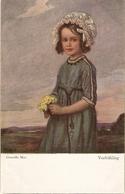 """""Corneille Max Max. Girl With Flowers. Vorfruhling"" Fine Painting, Vintage German Postcard - Niños"