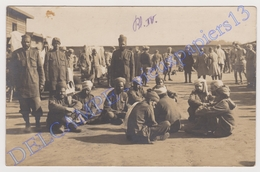 Cpa Carte Photo Ww1 Munster Rennbahn Camp Allemagne Prisonniers Hindous Juin 1916 Par Un Gendarme Prisonnier - Guerre 1914-18