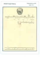 PERSIA - IRAN; Old Telegram From The Year 1911 - Irán