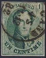 Mooi Gerande Zegel Met Variëteit  N°9 V 3  Zonder Gebreken - 1858-1862 Médaillons (9/12)