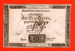 ASSIGNAT 10 LIVRES - 16 DECEMBRE 1791 - FAUX D'EPOQUE - CERTIFIE FAUX PAR JALHEAU - REVOLUTION - Assegnati