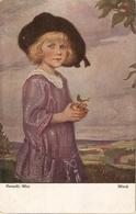 """""Corneille Max Max. Girl With Apple. Maufi"" Fine Painting, Vintage German Postcard - Niños"