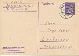 SCHÖNLANKE  -  1943  ,  Nach Fliegerangriffen Privatgespräche Am Fernsprecher Unterlassen ... - Deutschland