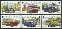 Jersey 1998 Yvertn° 818-823 *** MNH Cote 11 Euro Transport Auto-bus - Jersey