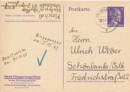 LESLAU / WARTHELAND  -  1943  ,  Nach Fliegerangriffen Keine Privatgespräche Am Fernsprecher ... - Deutschland