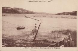 C. P. A - CHARAVINES LES BAINS - LA PLAGE - PLAISIRS DU CANOTAGE ET DE LA BAIGNADE - 3 - J. CELLARD - Charavines