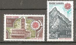 ANDORRE 1978 Y T N °269/270 Neuf** - French Andorra