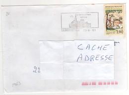 """: Beau Timbre , Stamp  Yvert N° 2963 """" Les Fables De La Fontaine """" , Sur Lettre , Cover , Mail Du 30/08/1995 - France"""