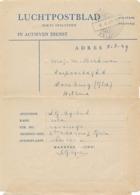 Nederlands Indië - 1949 - Portvrij Militair Luchtpostblad Van Madioen/Veldpost Naar Doesburg / Nederland - Indes Néerlandaises