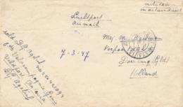 Nederlands Indië - 1947 - Portvrij Militair Briefje Van Veldpost Batavia/2 Naar Doesburg / Nederland - Indes Néerlandaises