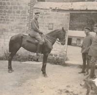 """Photo 1917 PARPEVILLE (près Ribemont) - """"Bach"""", Moi (l'auteur) Et Paul Friedrich (A218, Ww1, Wk 1) - France"""
